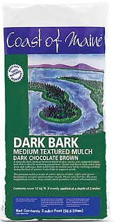 Coast of Maine Dark Bark Mulch, 2 cu. ft.